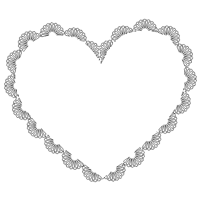 molde coracao borda com elementos