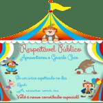 Molde de Convite Infantil – Circo