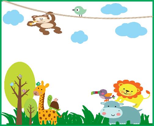 Fundo Safari on Name Tag Template With Animals 9