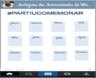 instagram aniversariante do mes