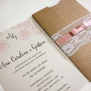 Modelos de Convites de Casamento 07