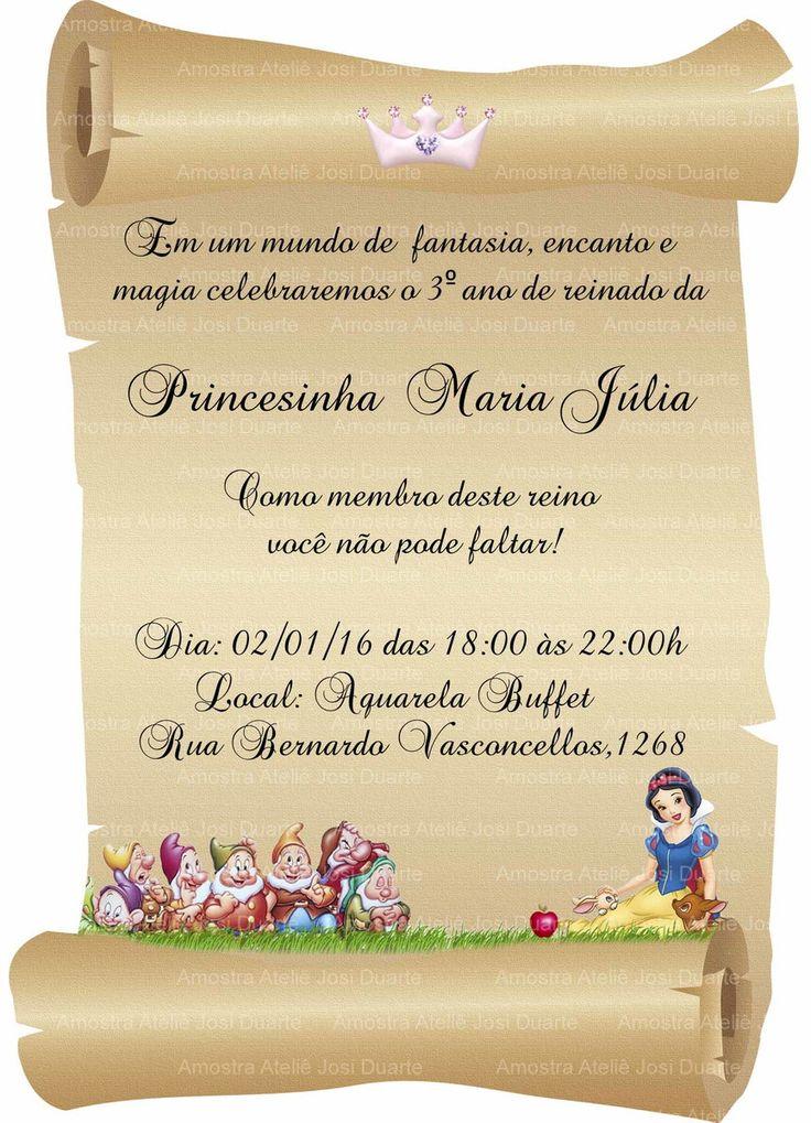 convite para aniversário infantil