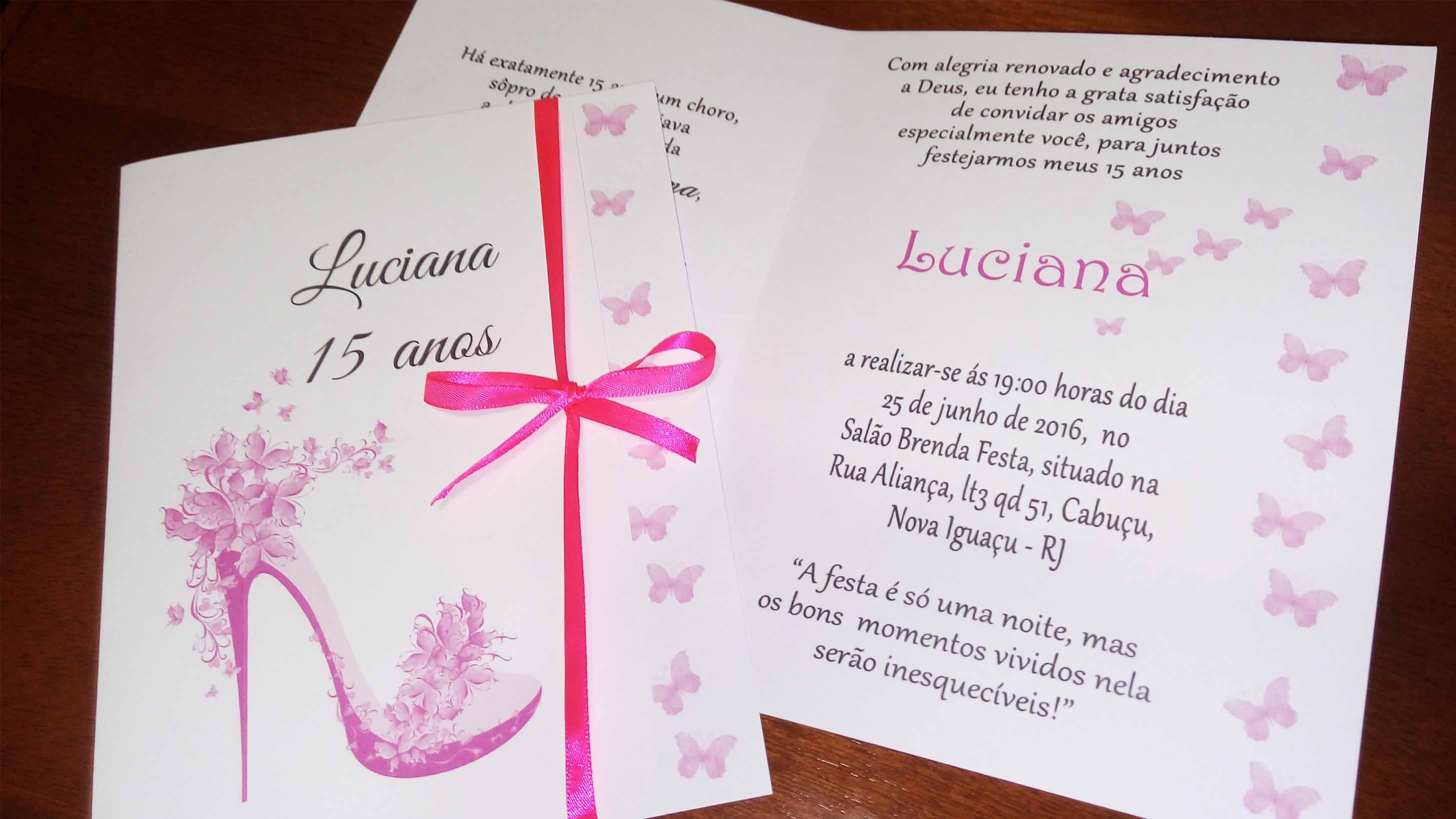 37793de0a2 Modelos de Convites de Aniversário de 15 Anos -