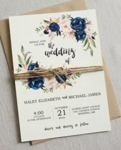 Modelos de Convites de Casamento 15