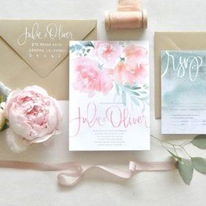 Modelos de Convites de Casamento 21