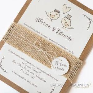 Modelos de Convites de Casamento 33