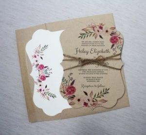 Modelos de Convites de Casamento 36