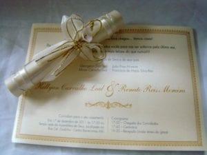 Modelos de Convites de Casamento 41