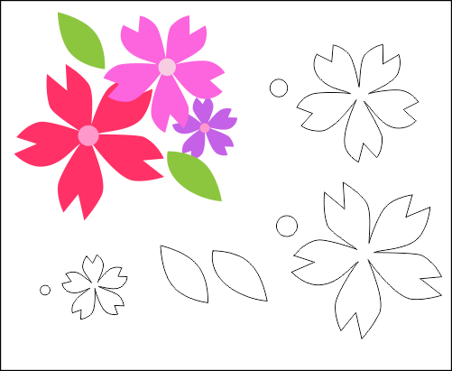 Molde Flor para EVA-Feltro e artesanatos