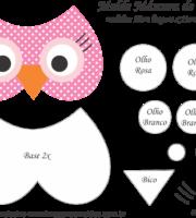 Molde Máscara de Dormir Coruja - Molde para EVA - Feltro e Artesanato