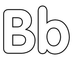 molde da letra b para feltro e v a e artesanatos