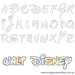 Molde da Letra Walt Disney 2