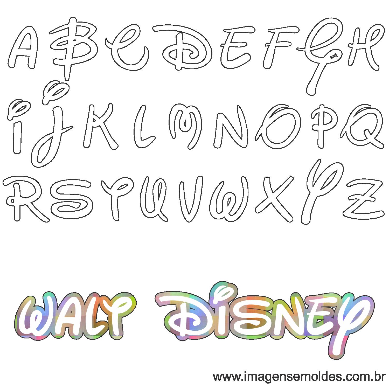 2a0e6769a Molde da Letra Walt Disney 2