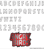 Molde da Letra do Angry Birds 3
