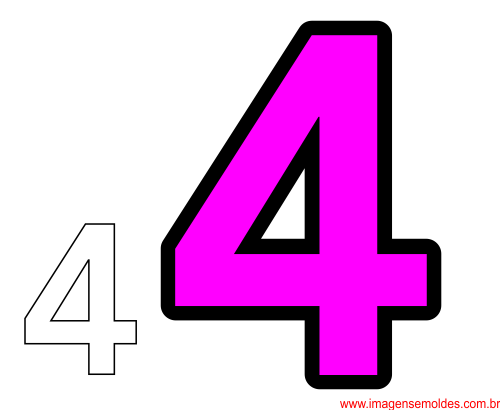 molde da número 4