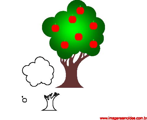 Imagens De Arvore Para Imprimir: Molde De Árvore Para E.V.A. Feltro E Artesanato