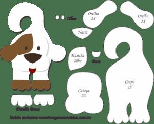 Molde de Cachorro Porta Maçaneta para EVA - Feltro e Artesanato