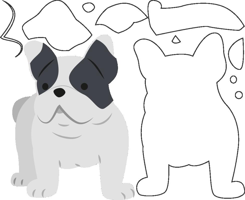 Molde de Cachorro para EVA, Feltro e Artesanato