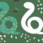 Molde de Cobra para Feltro – EVA e Artesanatos 2