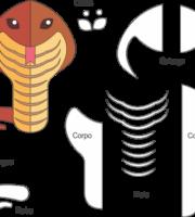 Molde de Cobra para EVA - Feltro e Artesanatos 6