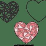 Molde de Coração Feltro – EVA e Artesanato 1