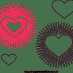 Molde de Coração 9
