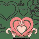 Molde de Coração 8