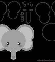 Molde de Elefante para EVA - Feltro e Artesanato 3