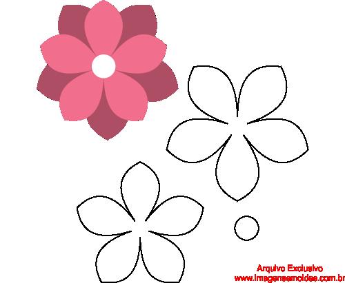 Molde De Flor Para Eva Feltro E Artesanato 2