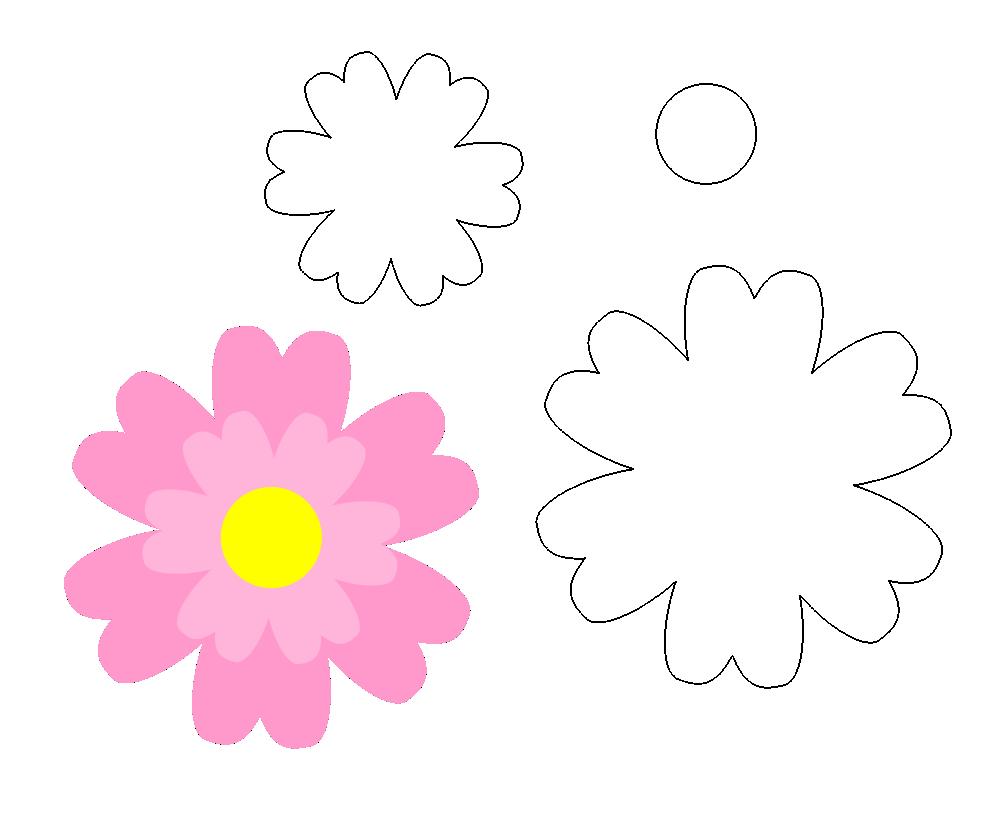 Molde De Flor Para Eva Feltro E Artesanatos