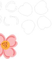 Molde de flor para Feltro - EVA - Artesanatos