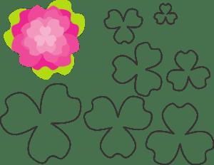 Molde De Flor Para Eva Feltro E Artesanato