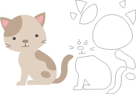 Molde De Gato Para Eva