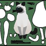Molde de Gato para Feltro – EVA e Artesanatos