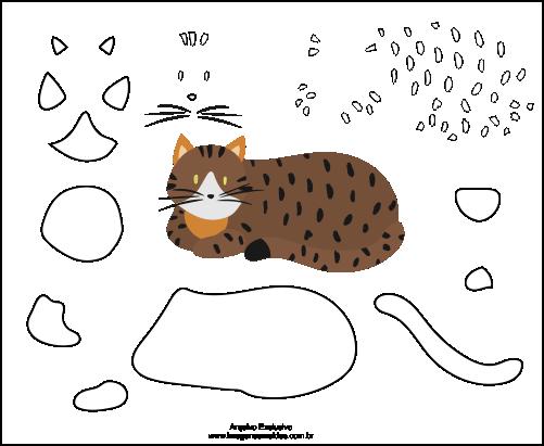 Molde de Gato Para EVA-Feltro e Artesanatos 3