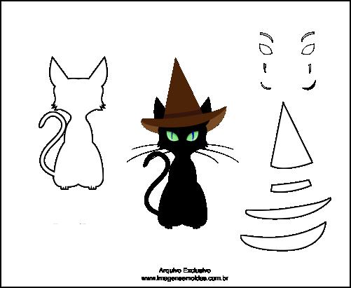 Molde de Gato Para EVA-Feltro e Artesanatos 5