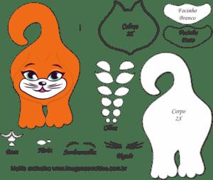 Molde de Gato Porta Maçaneta para EVA - Feltro e Artesanato