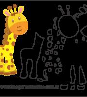 Molde de Girafa Para Eva - Artesanatos e Feltro