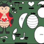 Molde de Joaninha para Feltro – EVA e Artesanatos 4