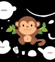 Molde de Macaco para EVA Feltro e Artesanato 2