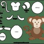 Molde de Macaco para Feltro – EVA e Artesanato 4