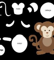 Molde de Macaco para EVA Feltro e Artesanato 4