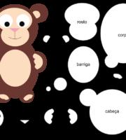 Molde de Macaco para EVA Feltro e Artesanato 6