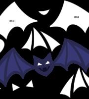 Molde de Morcego para EVA Feltro e Artesanato 2