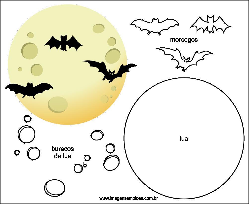 Molde de Morcego para EVA Feltro e Artesanato 3