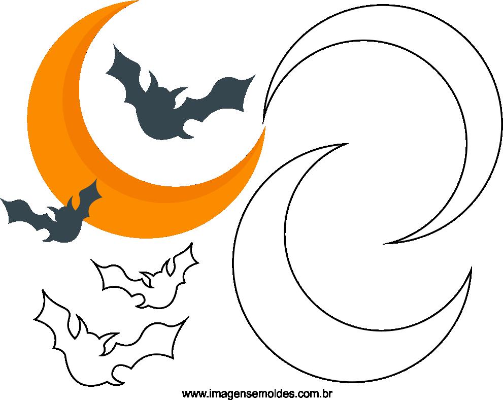 Molde de Morcego para EVA Feltro e Artesanato 4