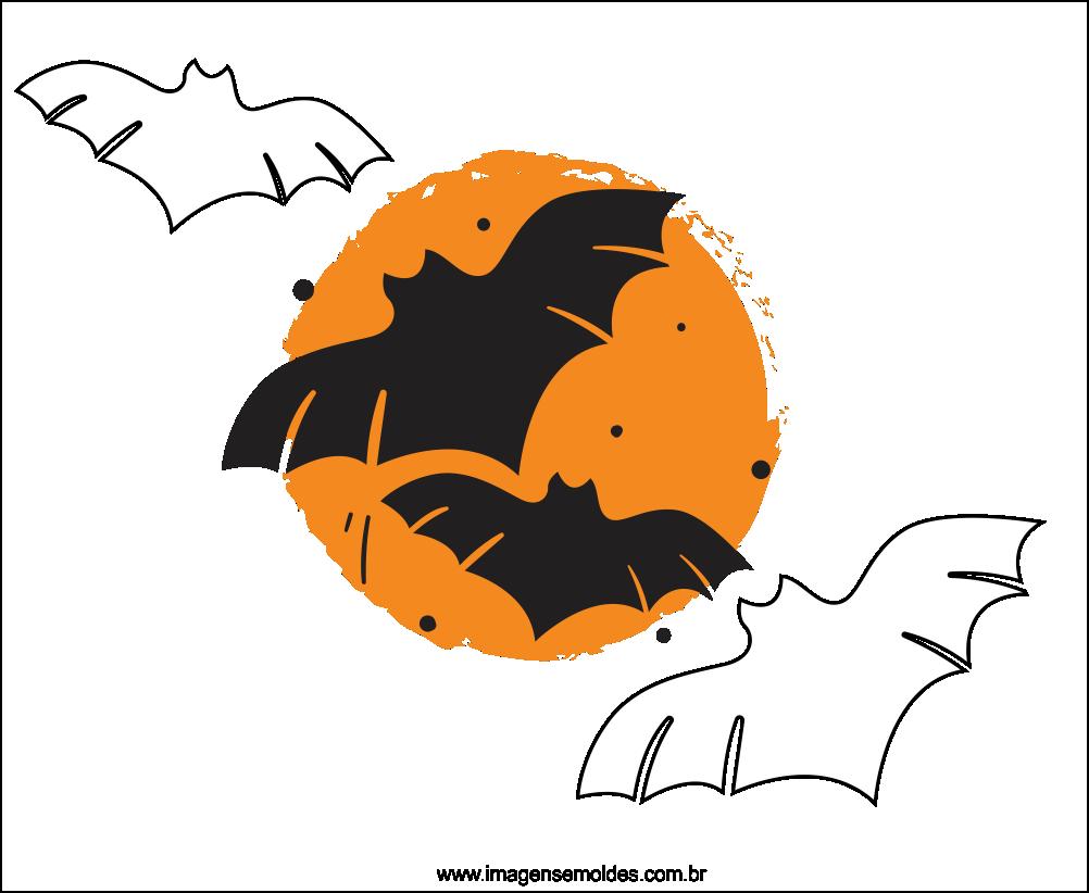 Molde de Morcego para EVA Feltro e Artesanato 6