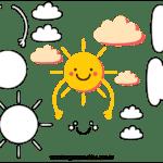 Molde de Nuvem e Sol para Feltro – EVA e Artesanato 1