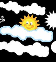 Molde de Nuvem e Sol para EVA Feltro e Artesanato 2