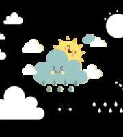 Molde de Nuvem e Sol para EVA Feltro e Artesanato 3